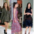 델포조 Delpozo 오픈 행사에 참여한 이요원, 손나은, 한고은 유니크한 FW 컬렉션...