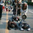 문규현 신부님, 수경스님의 오체투지 전주에 오시다.(2008-10-06)