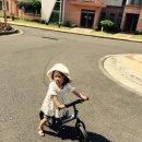로희 처음으로 자전거 페달을 밟다.