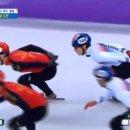 [2018 평창] 남자 쇼트트랙 5000m 계주 4위 마감…메달 실패