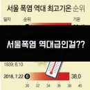 서울날씨 오늘 주간 미세먼지농도 111년만 최악 8월폭염 역대여름날씨