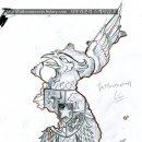 인도네시아 국장& 대한민국 지도 타투도안