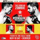 정찬성 로드리게스 중계 UFC 파이트 나이트 139 경기일정 및 시간안내