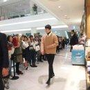 지이크파렌하이트 장기용 사인회 모델 타임스퀘어 남자옷브랜드 정장 코트 자켓 패딩
