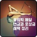 올림픽 메달 연금 상한선과 포상금 등 혜택 소개