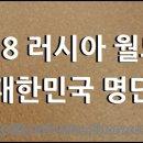 러시아 월드컵 명단 28명] 오늘 월드컵 한국 엔트리 발표, 이승우 오반석 문선민 포함