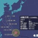 [여기는일본] 일본태풍-초강력 태풍24호 짜미,초강력 태풍25호 콩레이 예상경로.