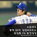 총액 80억 삼성라이온즈 윤성환 FA 중간 점검
