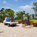 상주시, 꽃모식재지·조경수 가뭄에 대응하기