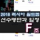 러시아월드컵 f조 대한민국 일정과 선수명단 및 주요선수, 역대전적
