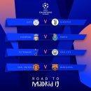 18-19 UEFA 챔피언스리그 8강 대진표