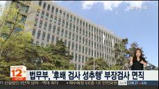 법무부, '후배 검사 성추행' 부장검사 면직