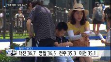 [날씨] '입추' 폭염 기승, 광주 38.6도..내일도 폭염 속 소나기