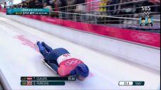 스켈레톤 남자 - '130KM 돌파' 엄청난 속도, 돔 파슨스의 2차 시기 2018 평창 동계올림픽대회 35회