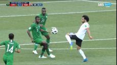 [사우디 VS 이집트] 환상적 테크닉으로 연계 보여준 살라 SBS 2018 FIFA 러시아 월드컵 76회