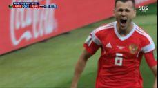 [러시아 VS 사우디] 개막전에서 데뷔골 터뜨리는 체리세프! SBS 2018 FIFA 러시아 월드컵 44회