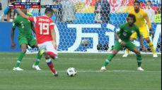 [러시아 VS 사우디] 골대를 외면한 사메도프의 슈팅 SBS 2018 FIFA 러시아 월드컵 44회