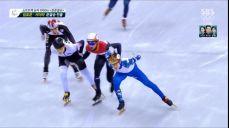 쇼트트랙 1000m - 이변의 3조, 실격 당하는 크네흐트 2018 평창 동계올림픽대회 43회