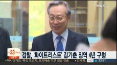 '화이트리스트' 김기춘 징역 4년·조윤선 징역 6년 구형