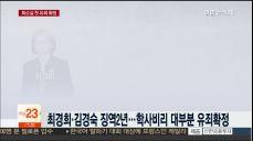 최순실 '학사비리' 징역3년 확정..첫 대법 판결